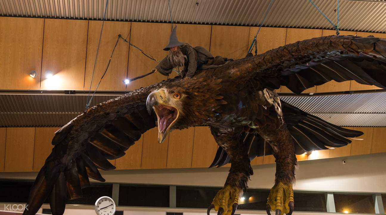 Gandalf and eagle prop at the weta studios