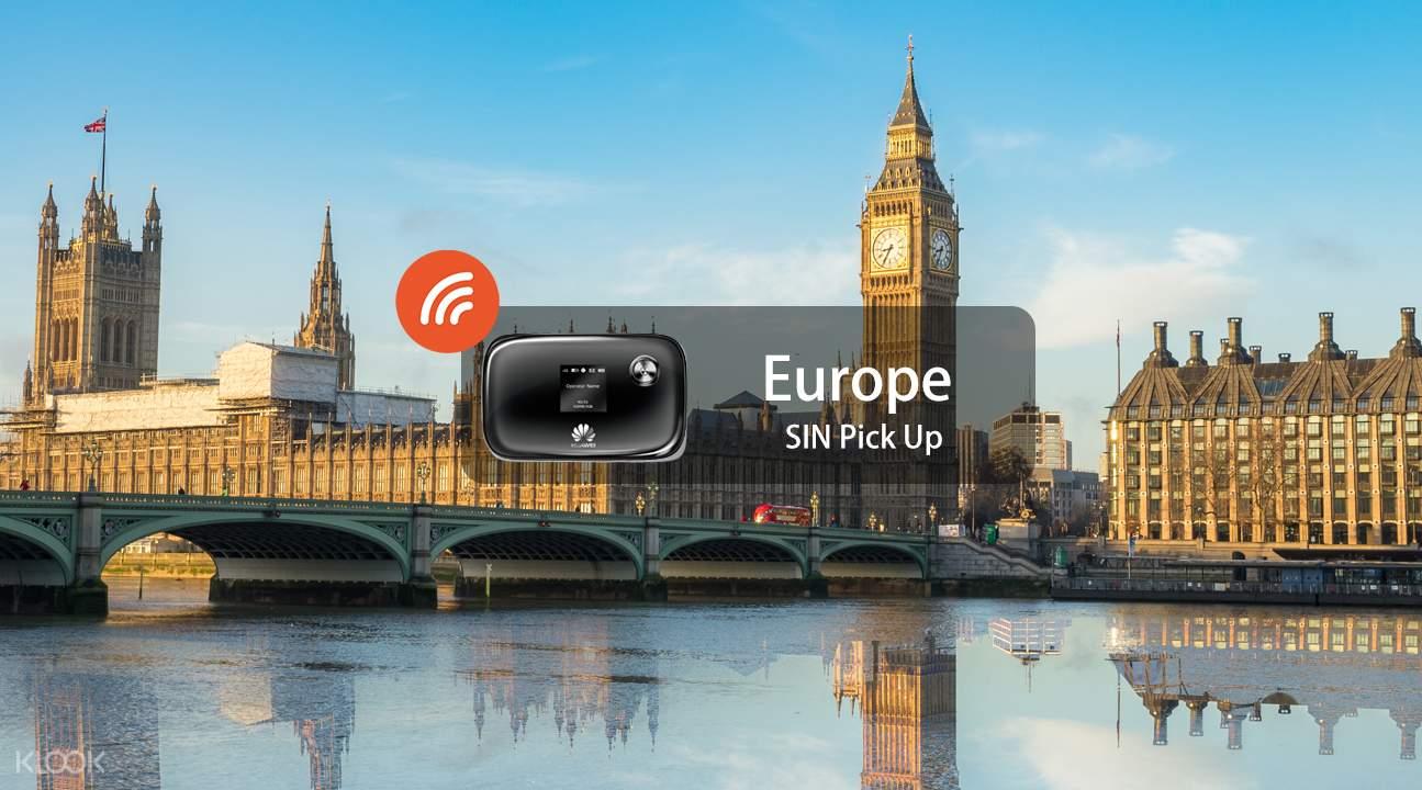 欧洲3.5G 随身WiFi(新加坡领取)
