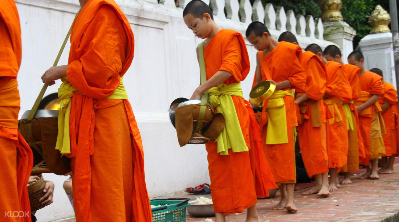 morning alms giving experience
