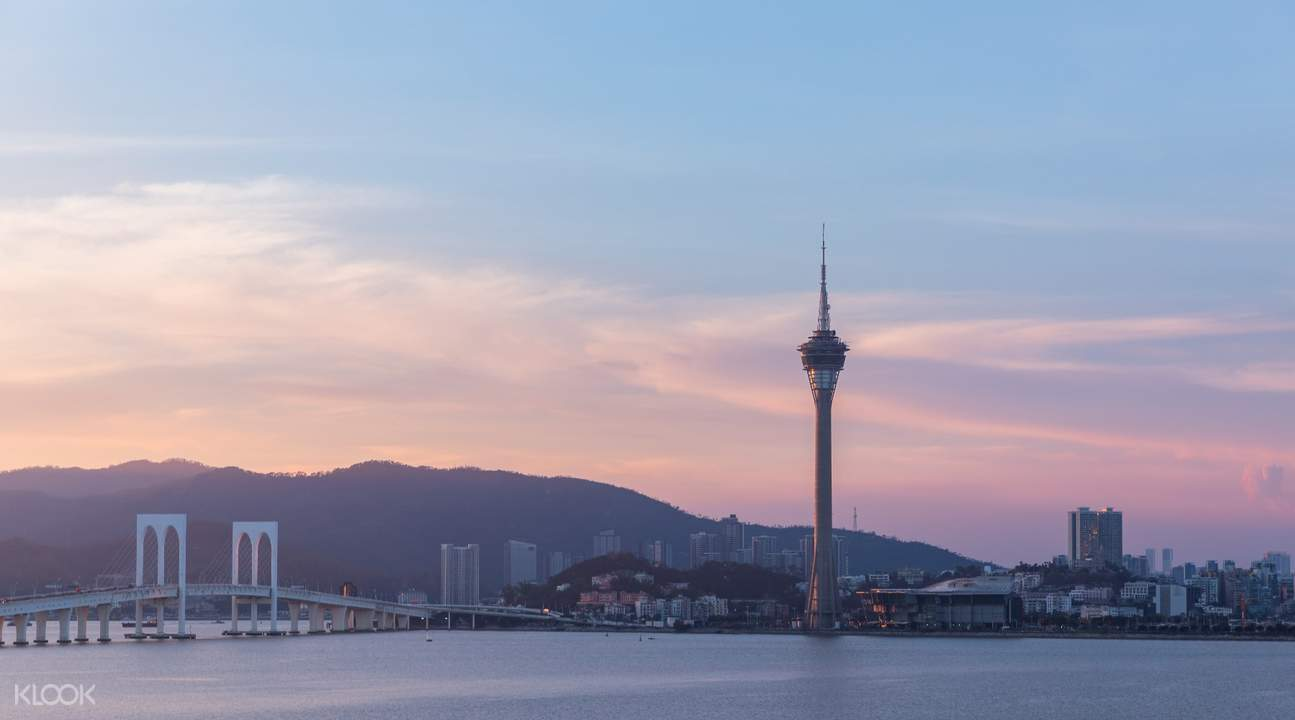 macau tower pink skyline
