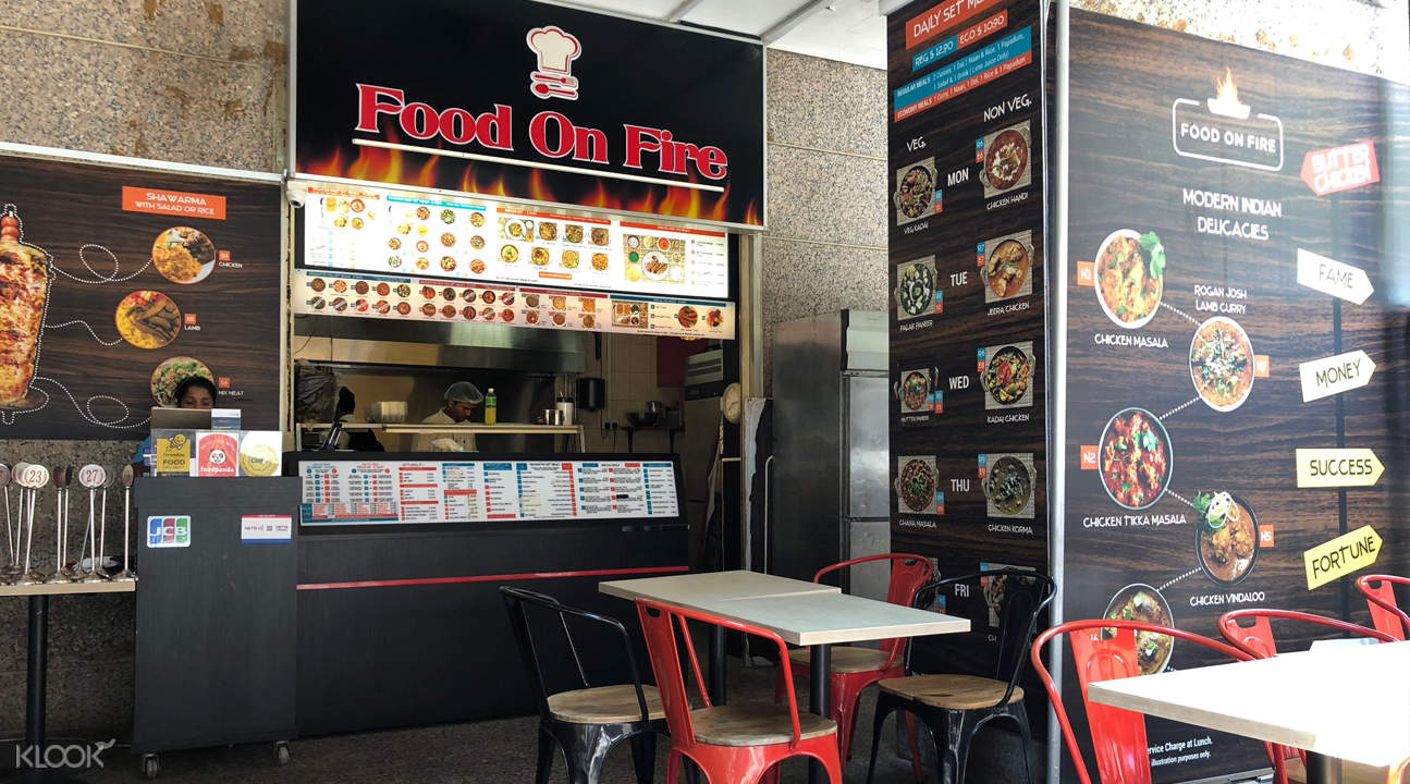 klook discount food on fire raffles place singapore