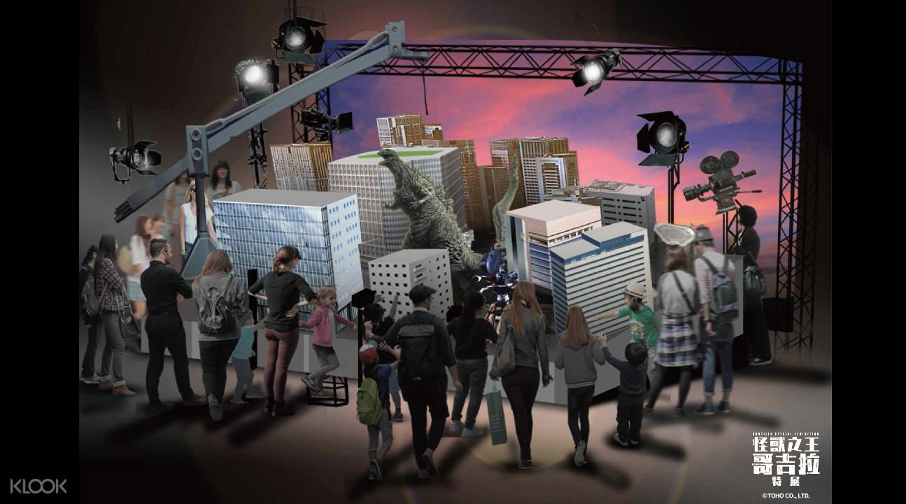哥吉拉特攝場景區 - 第九舞台