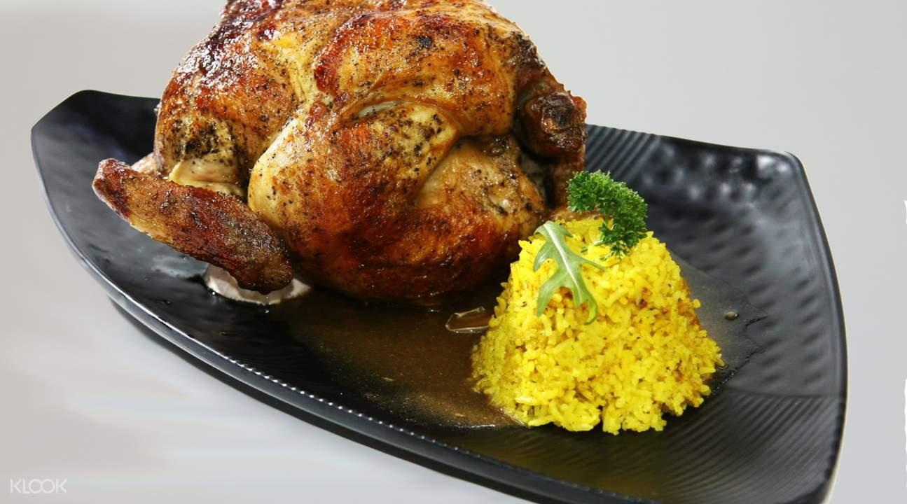 signature slow roasted chicken with steamed rice lb superpollo hac sa wan macau