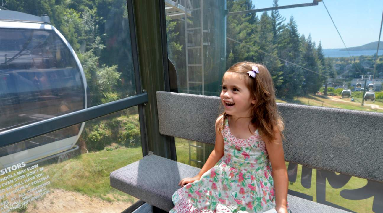 Girl enjoying the Rotorua Skyline Gondola