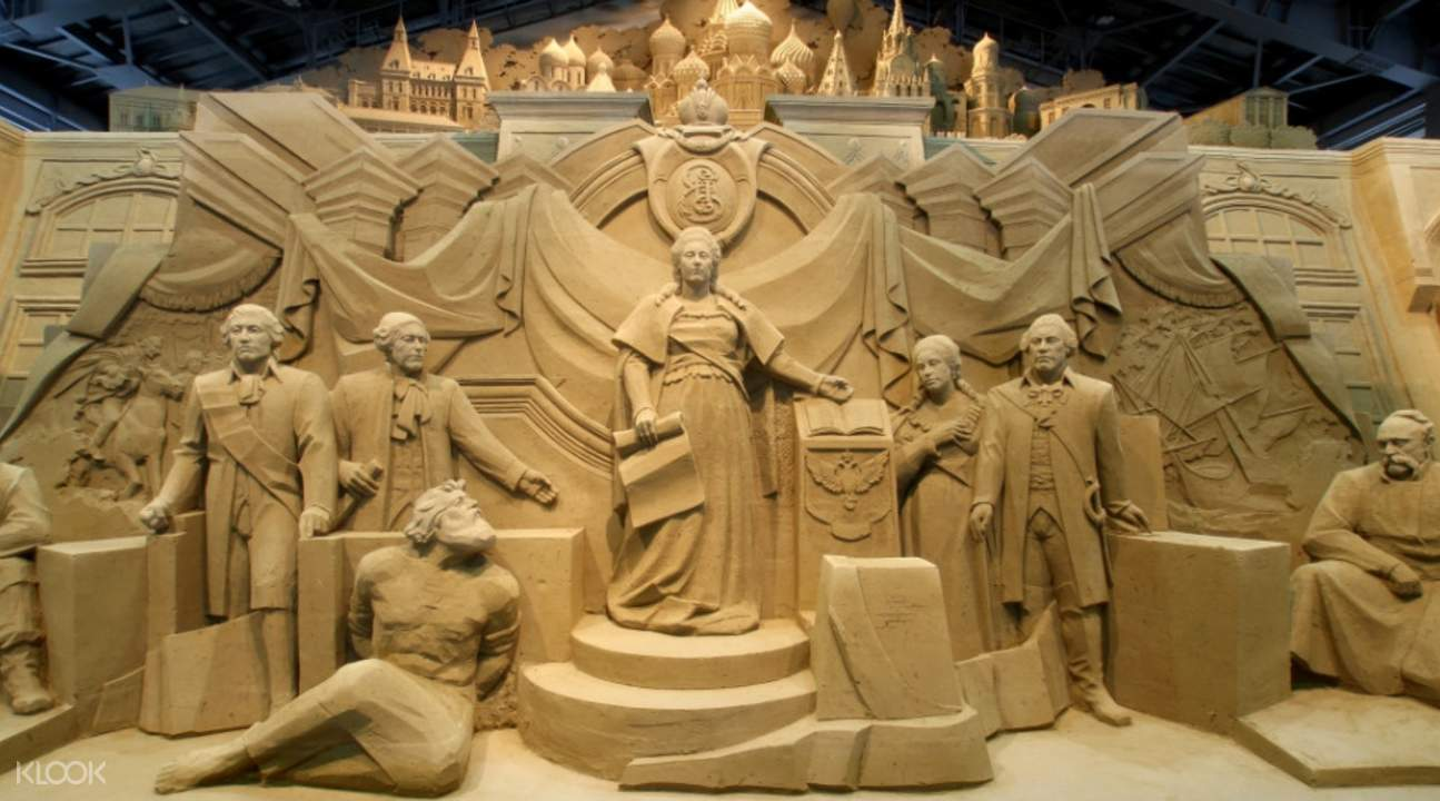 sand sculpture at tottori sand museum