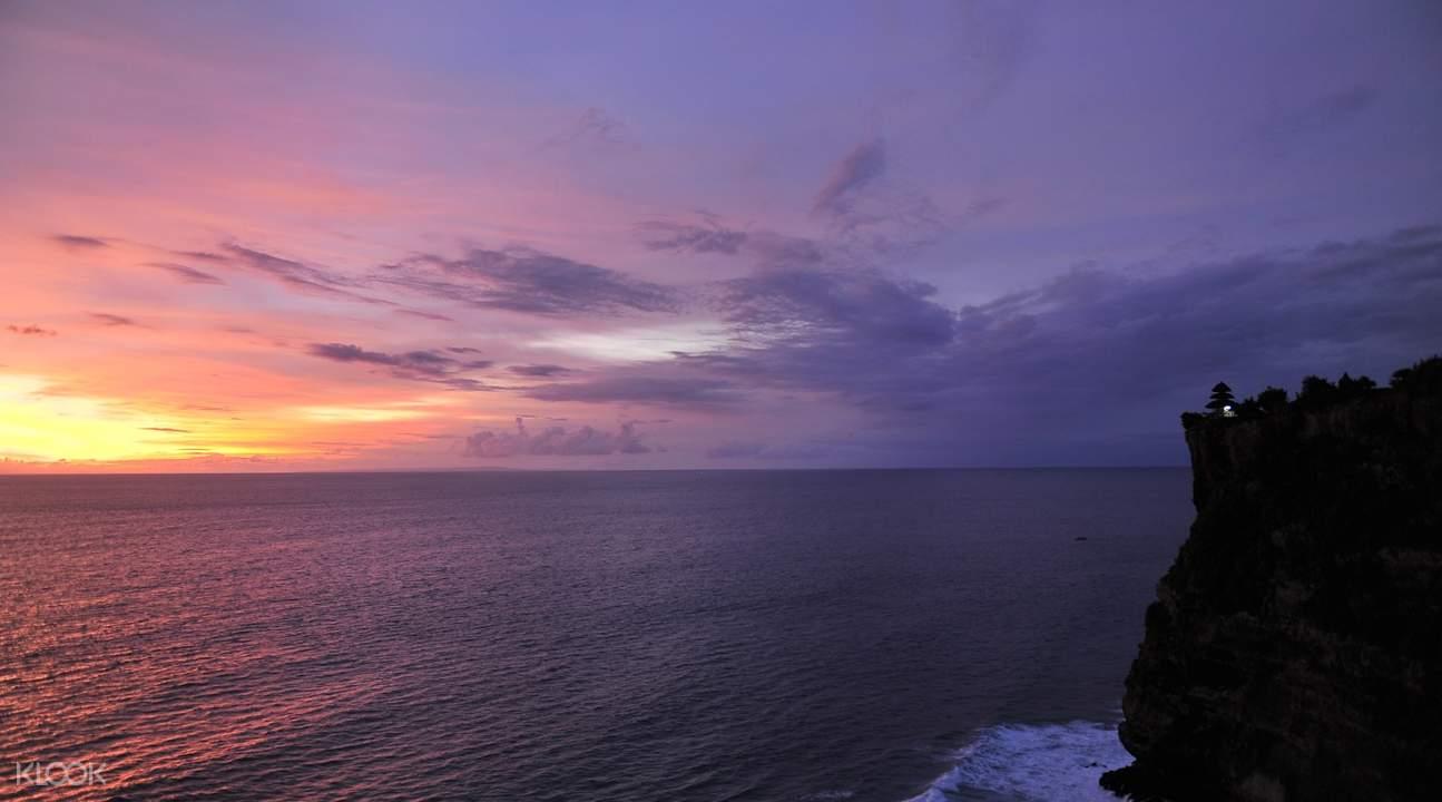 uluwatu at sunset