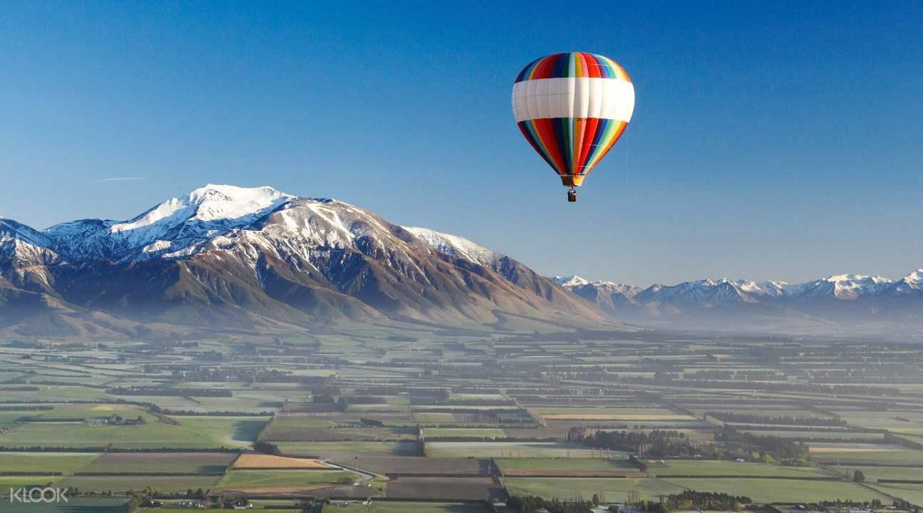 Sunrise Hot Air Ballooning mountain ranges