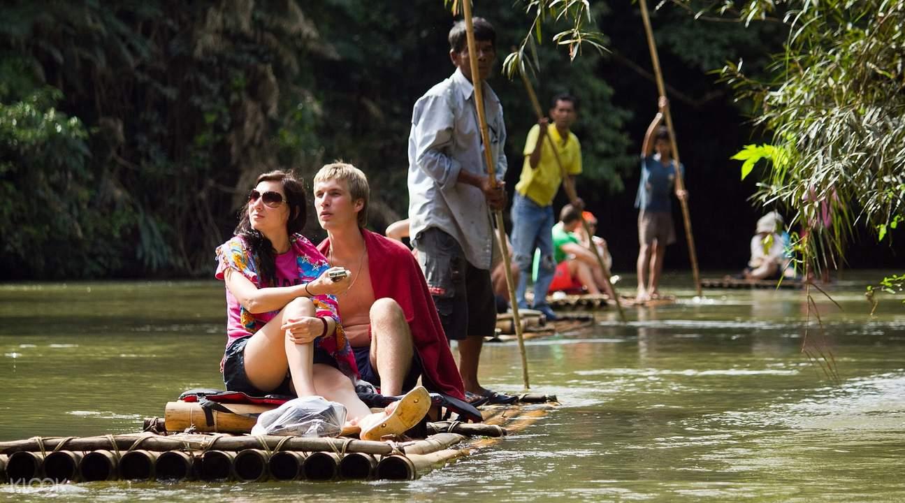khao sok river bamboo raft
