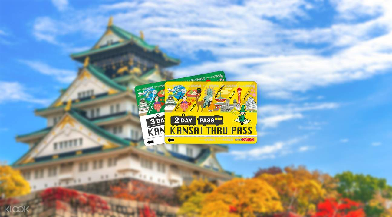 Kansai Thru Pass (2 or 3 Days) Osaka Japan