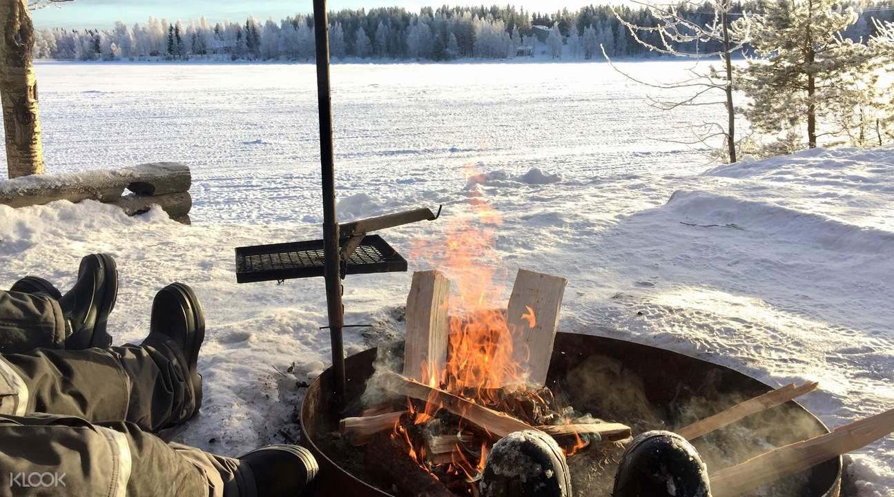 芬兰北极冰钓