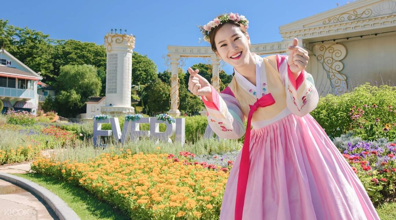 everland from seoul, everland hanbok rental, everland hanbok experience center, everland hanbok rental service, everland amusement park south korea