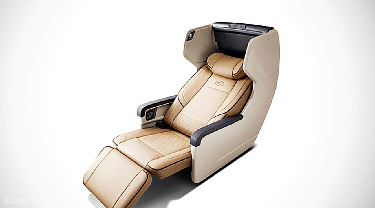 Klook VIP bus seat