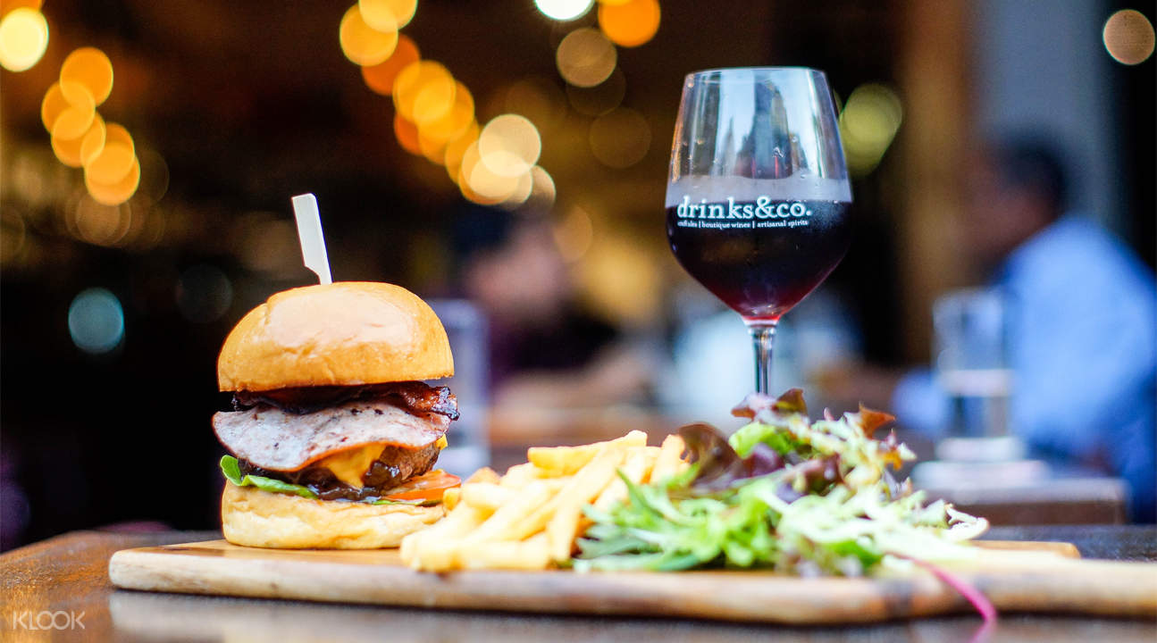 Burger and Wine