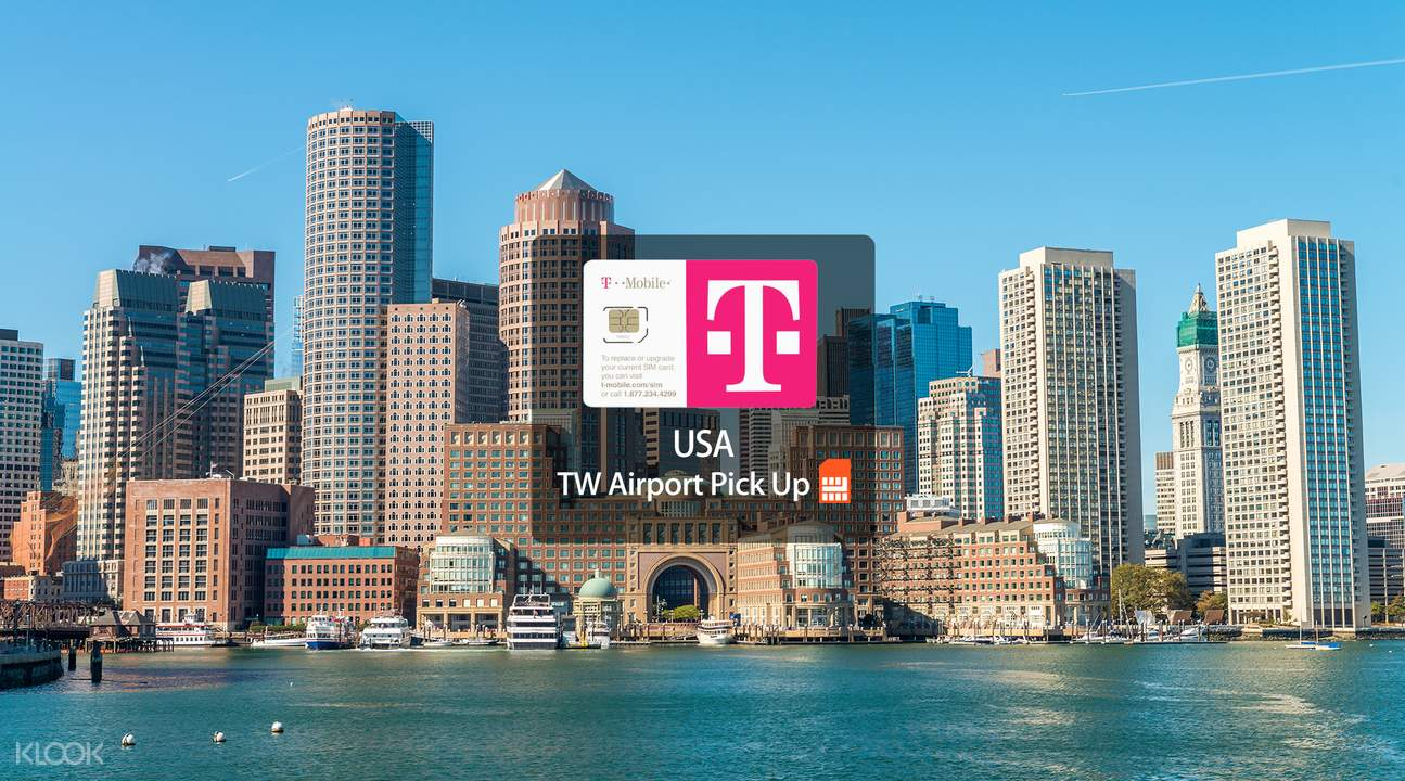 美國T-Mobile 4G上網通話卡台灣機場領取