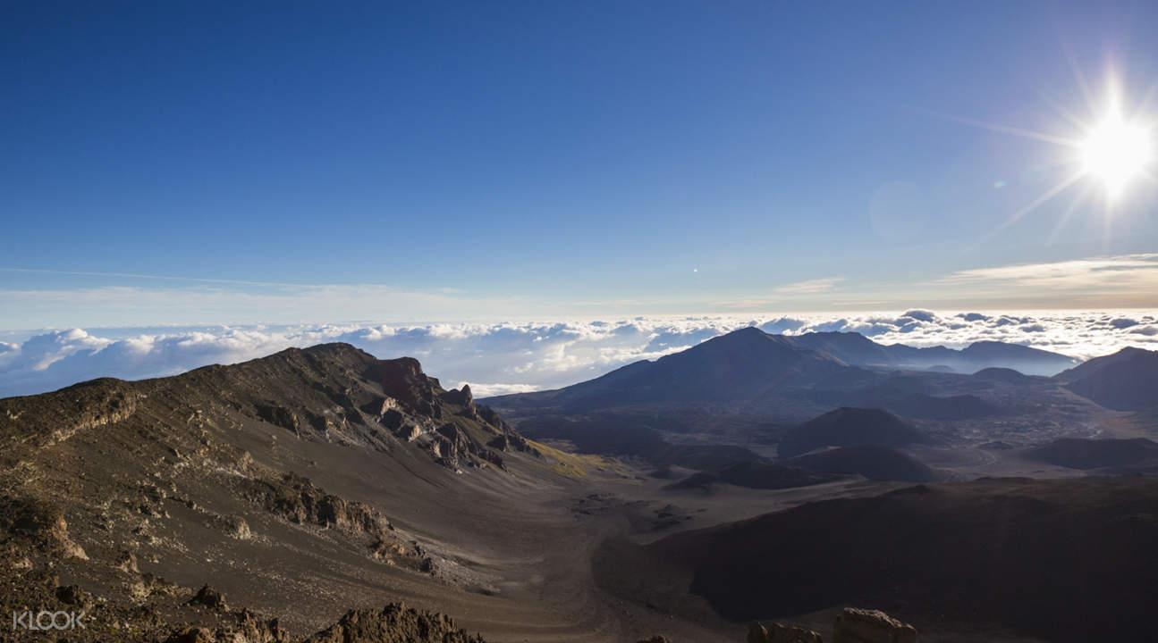 a mountainous area in Haleakala Park