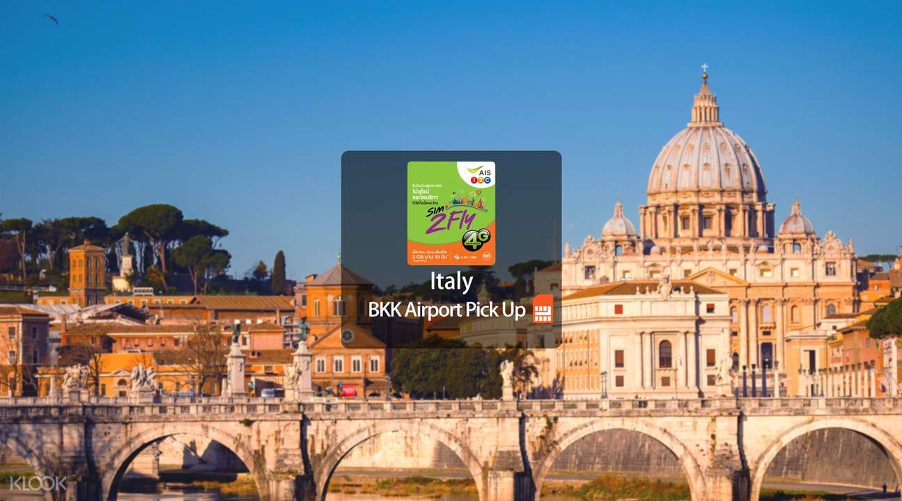 Italy Prepaid 4G SIM Card (BKK Airport Pick Up) from AIS