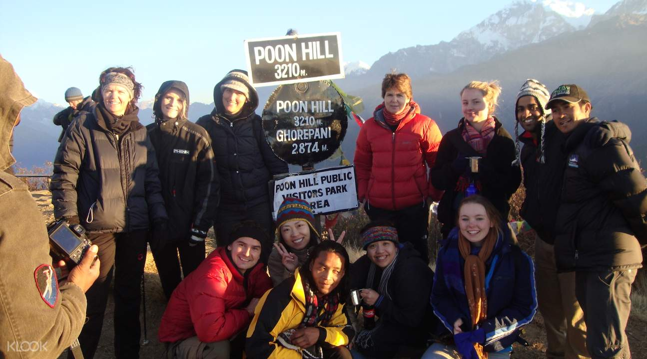 hikers at Ghorepani Poon Hill Trek