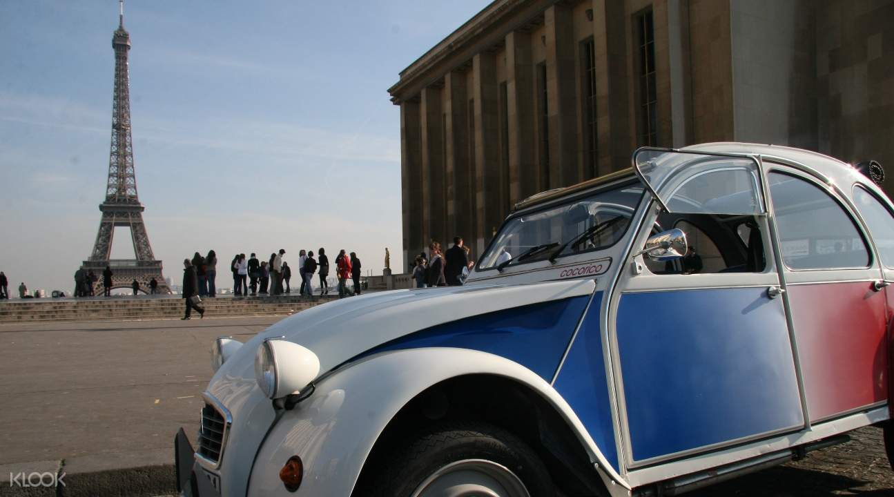 paris tour, paris tour by car, paris romantic tour, paris classic tour, paris vintage car tour, paris private car tour, 2cv car tour paris