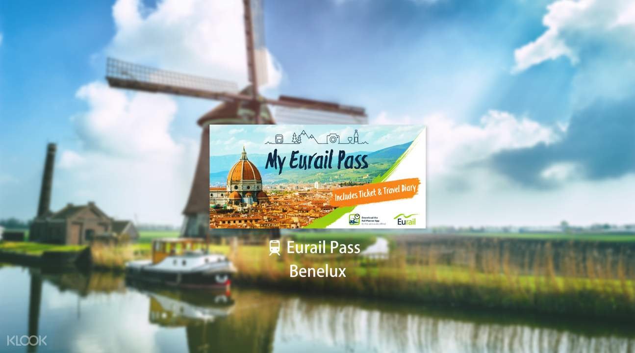 Eurail Pass for Benelux (3, 4, 5, 6 or 8 Days)
