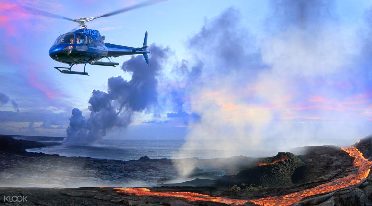 big island hawaii helicopter tour volcano