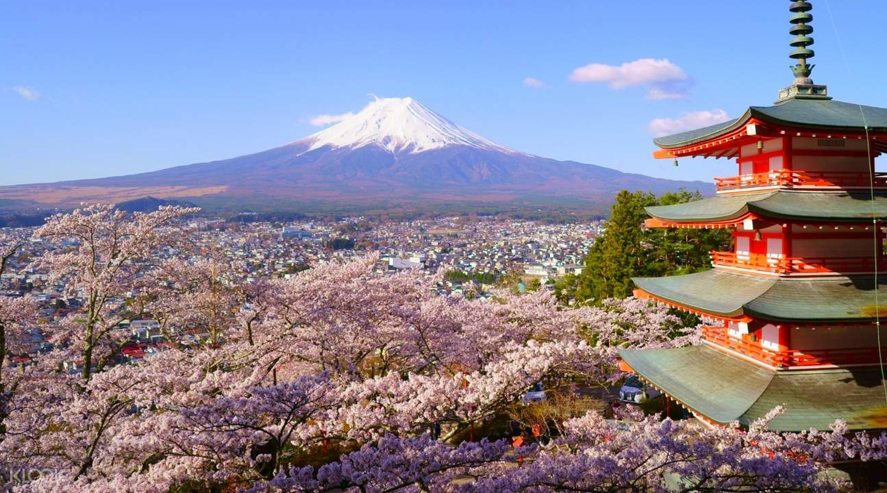 view of mount fuji from arakuyama sengen park