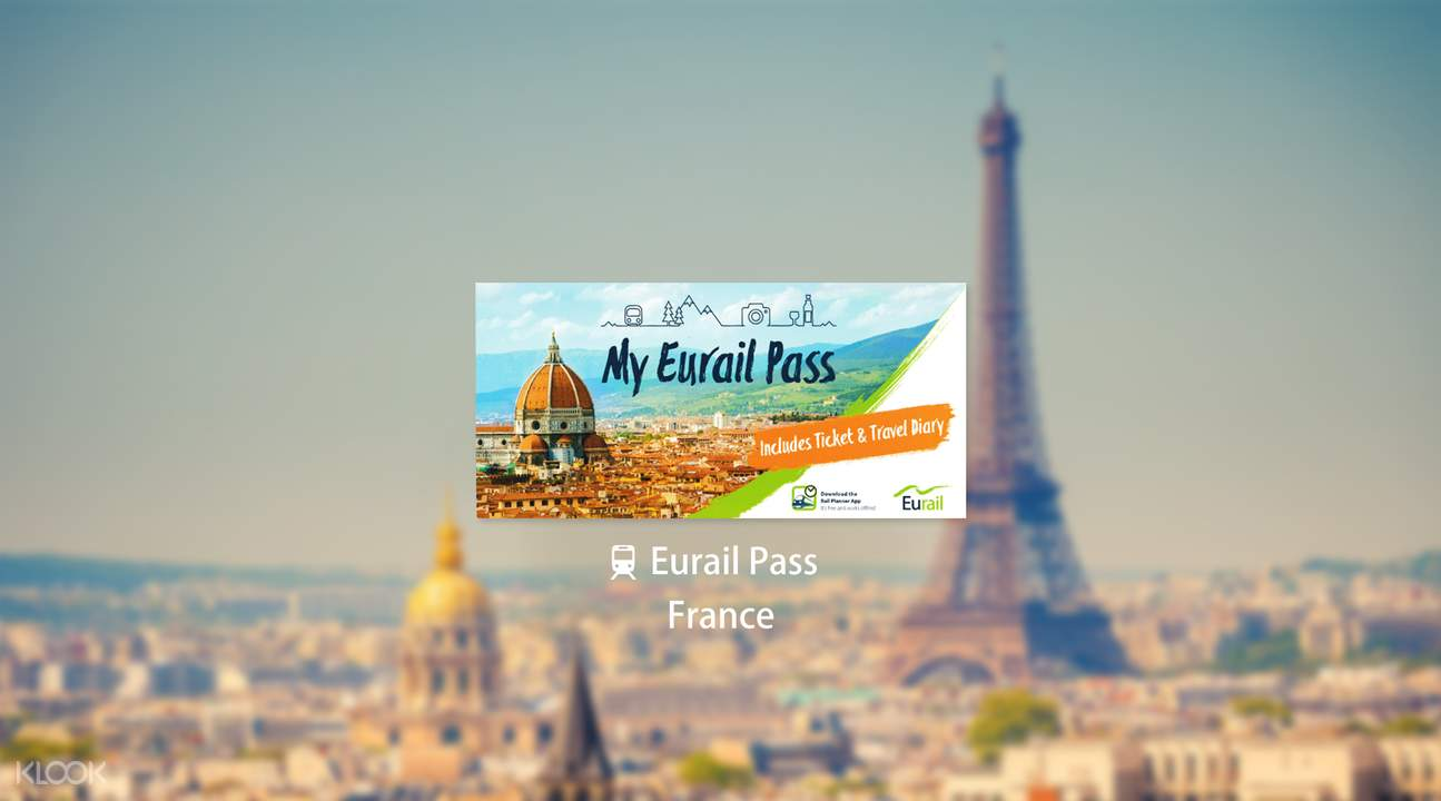 Eurail Pass for France (Second Class, 1-8 Days)
