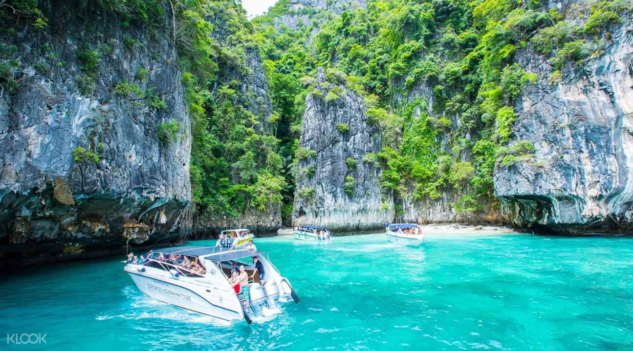maya bay phi phi island speedboat tour, phi phi island tour tickets
