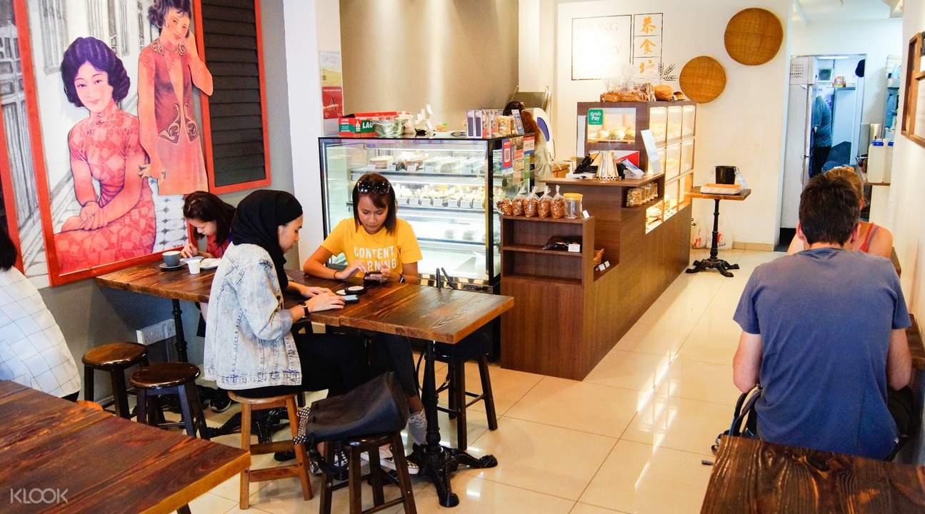 Interior of Keong Saik Bakery in Outram Park