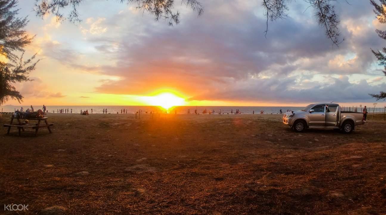 sunset in kawa kawa village