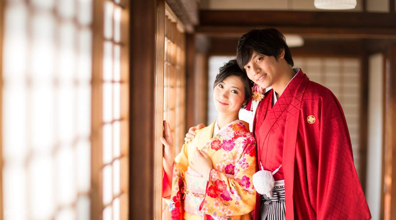 female and male kimono rental