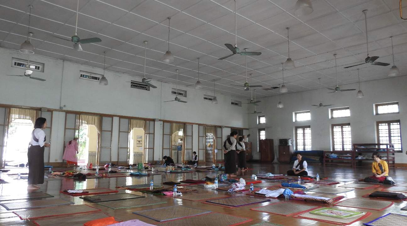 meditation session Mahasi Meditation Center Yangon Myanmar