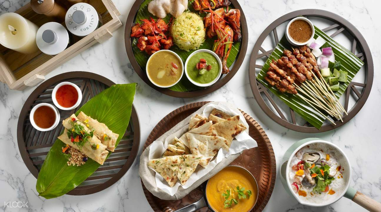 Asian Specialties Thai, Singaporean, Indian at Food Exchange at Novotel Singapore
