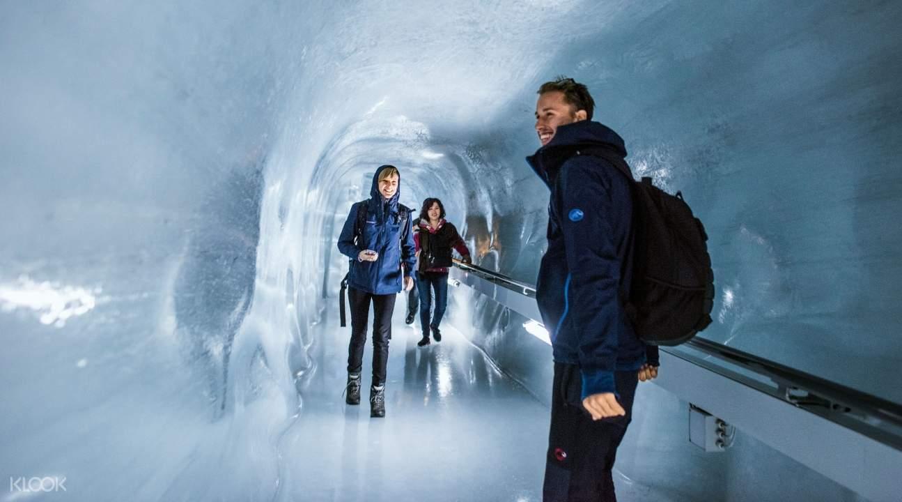 the Ice Palace of Jungfraujoch