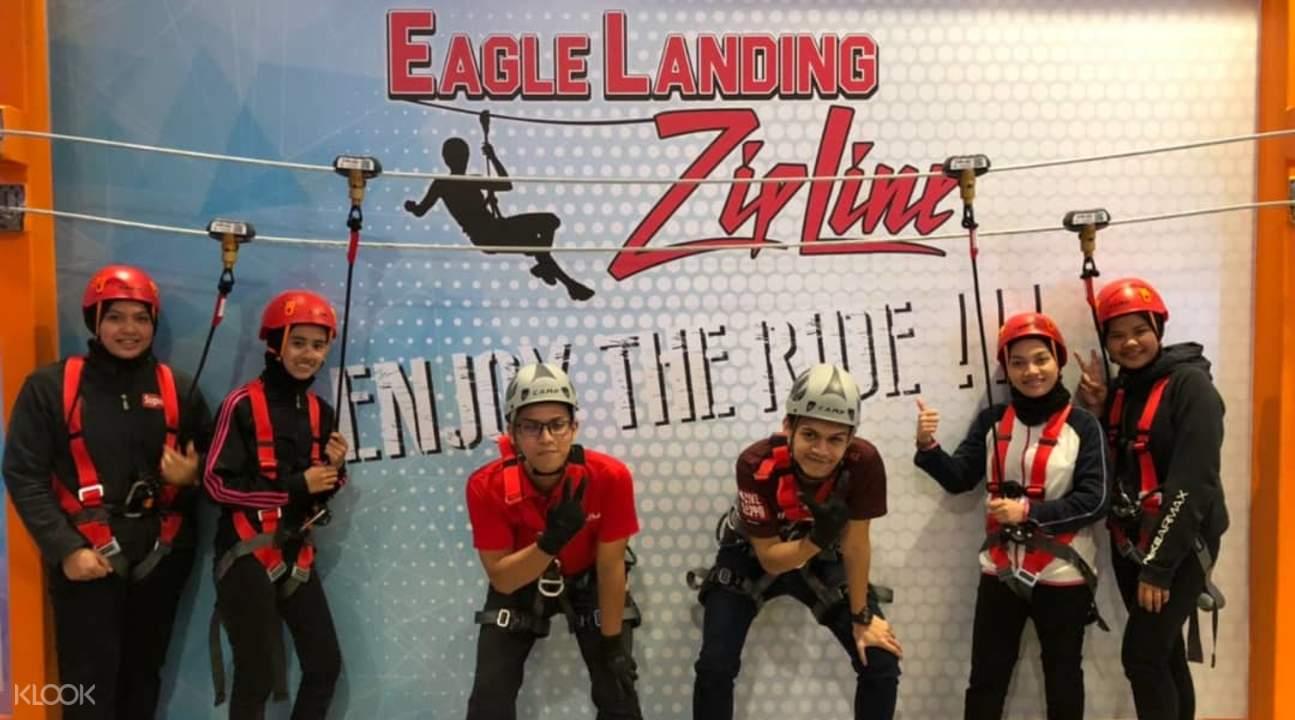 people preparing for zipline