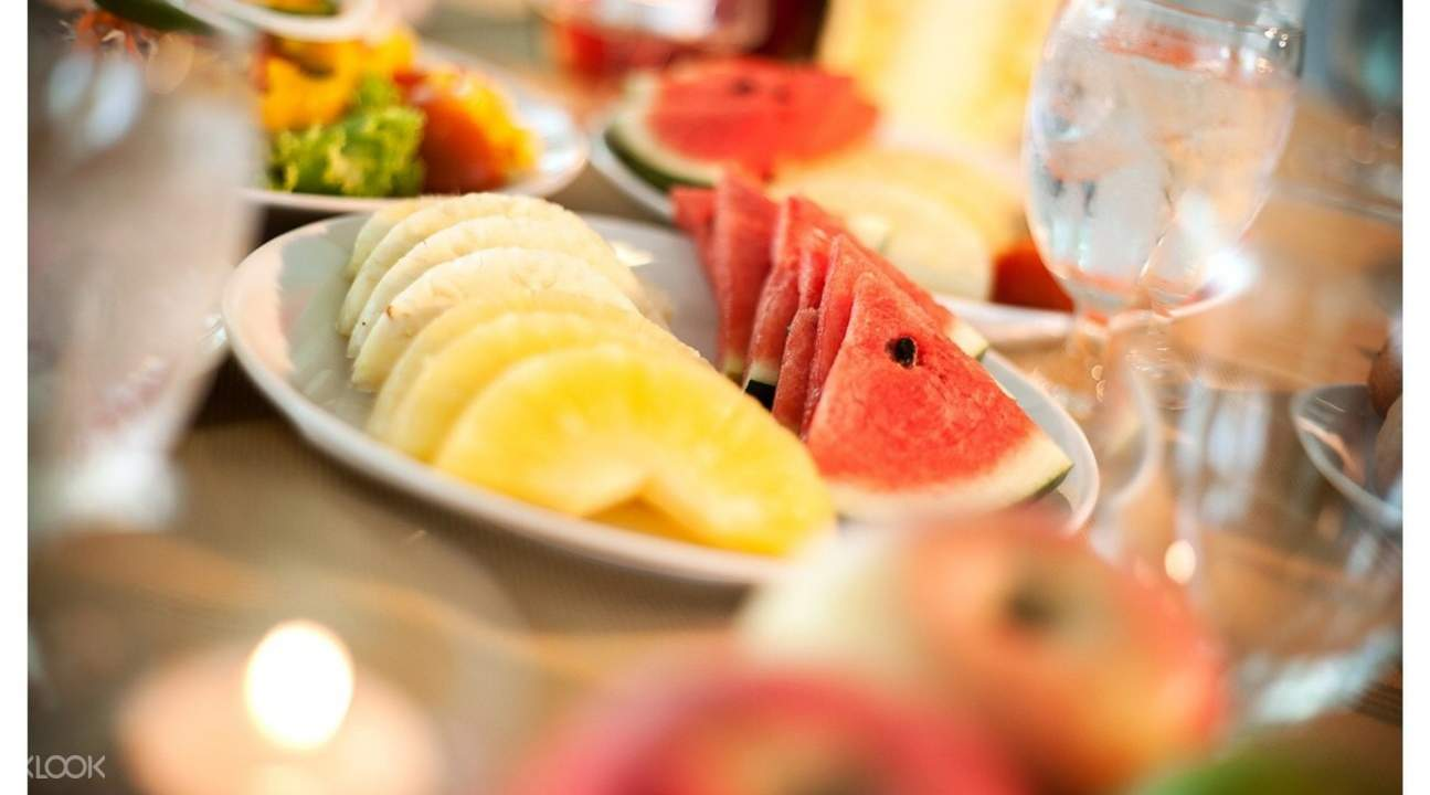 seasonal fruits Harbour Halal Restaurant at A-One New Wing Hotel in Pattaya, Thailand