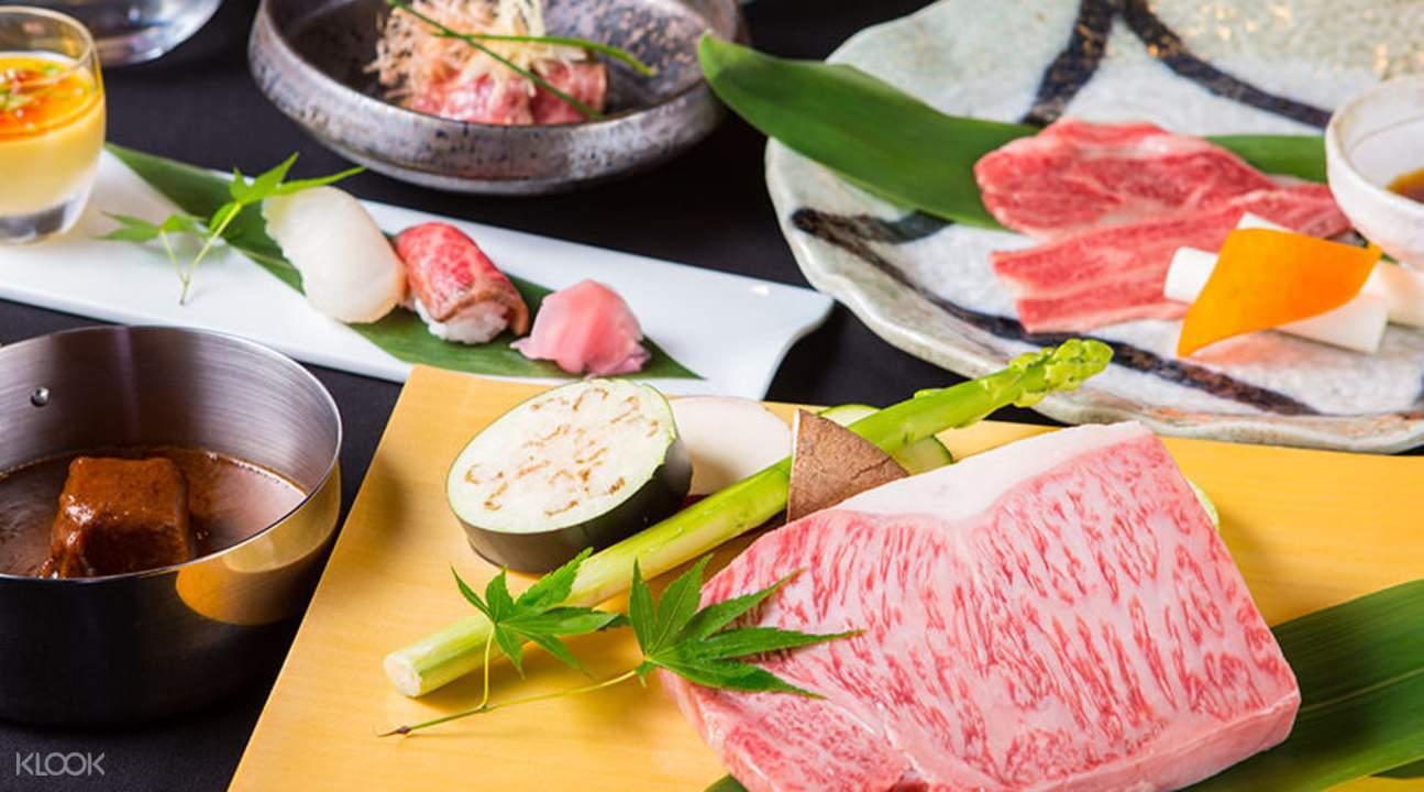 wanomiya kobe beef teppanyaki course namba osaka japan