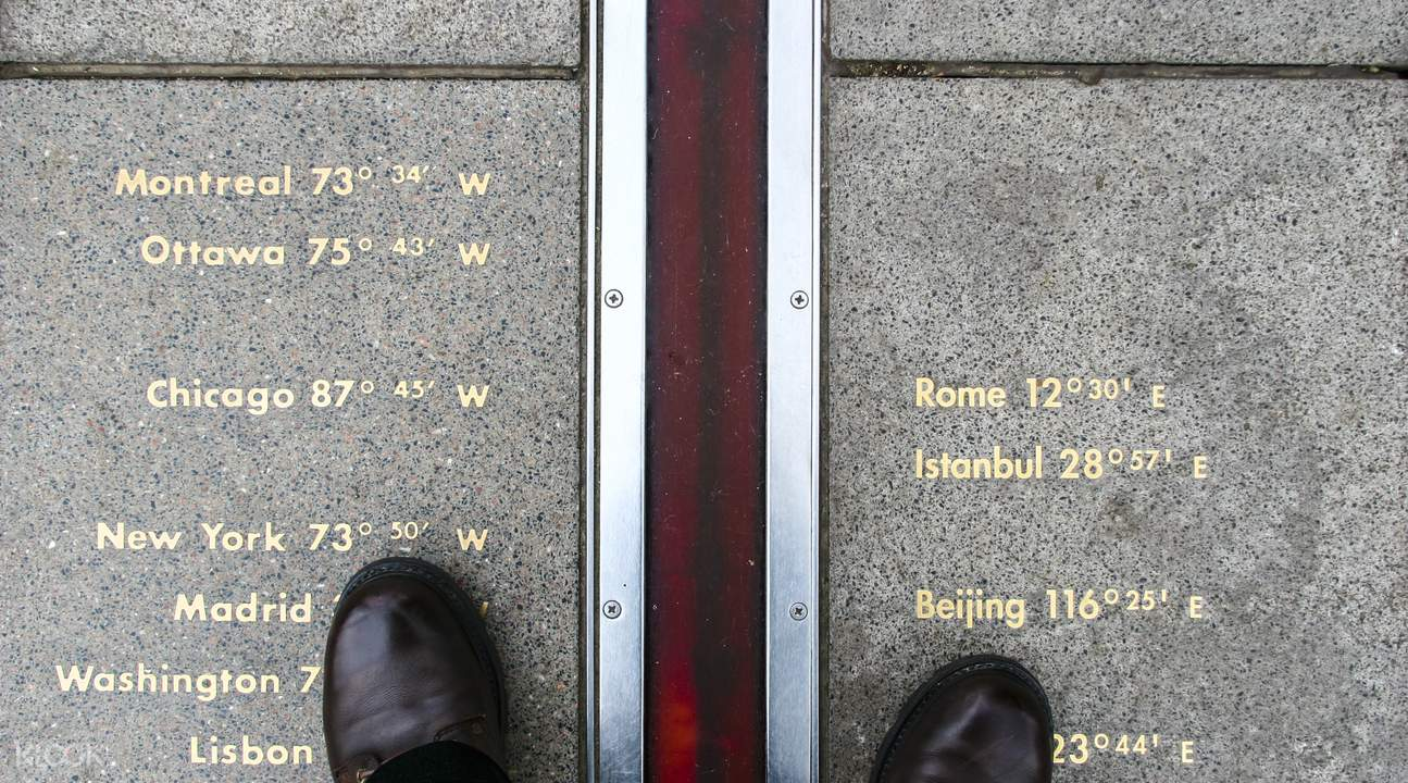 stand on the meridian line