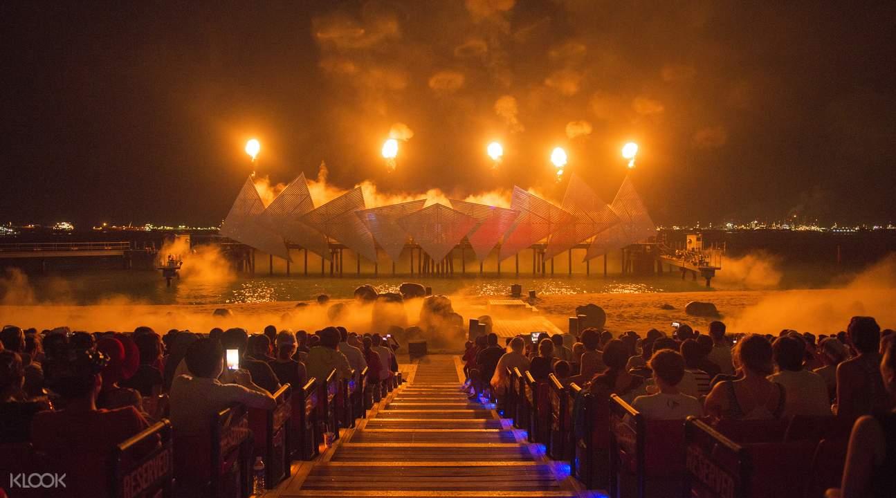 新加坡圣淘沙海上汇演