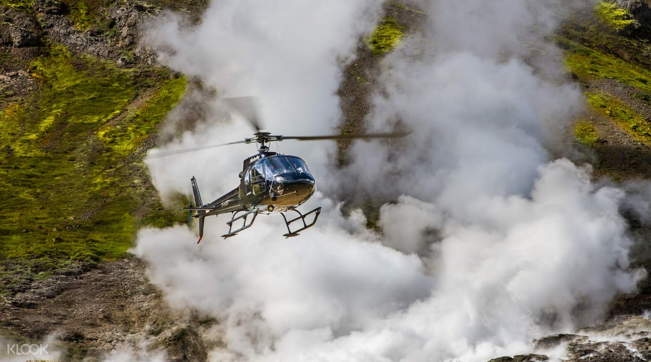 冰島地熱區直升機遨遊
