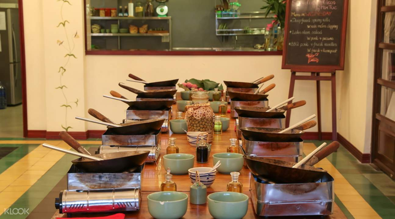 individual cooking stations saigon cooking class by hoa tuc ho chi minh vietnam