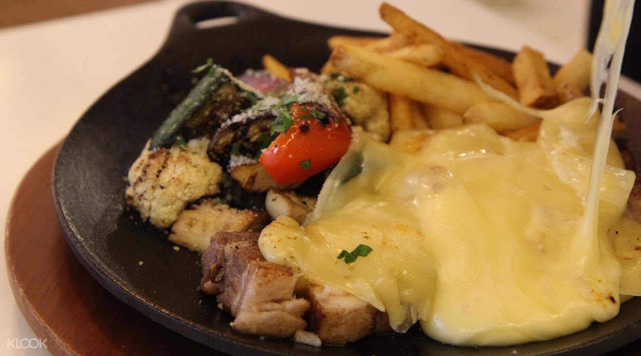 pork belly steak with raclette cheese iron man mark 28 passion island seoul south korea