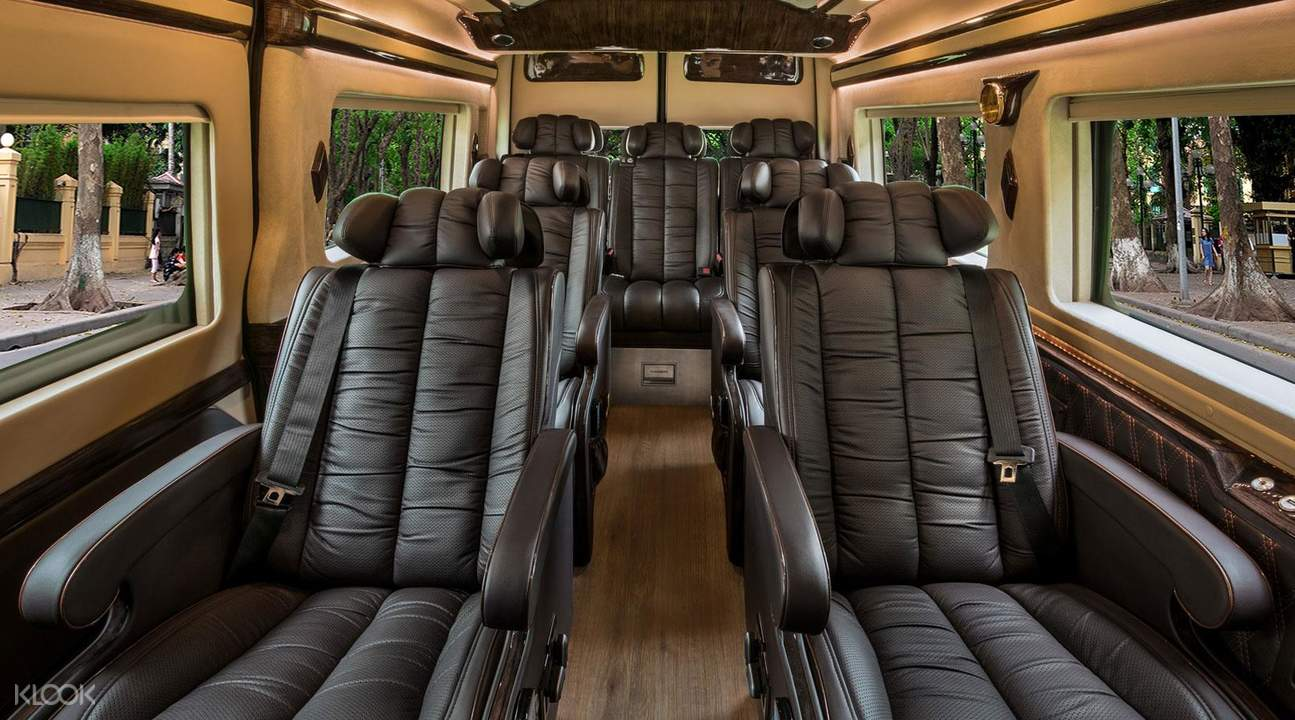 interior of a bus limousine
