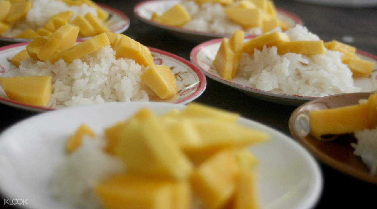 mango sticky rice Private Thai Cooking Class at Koh Phangan Vocational School