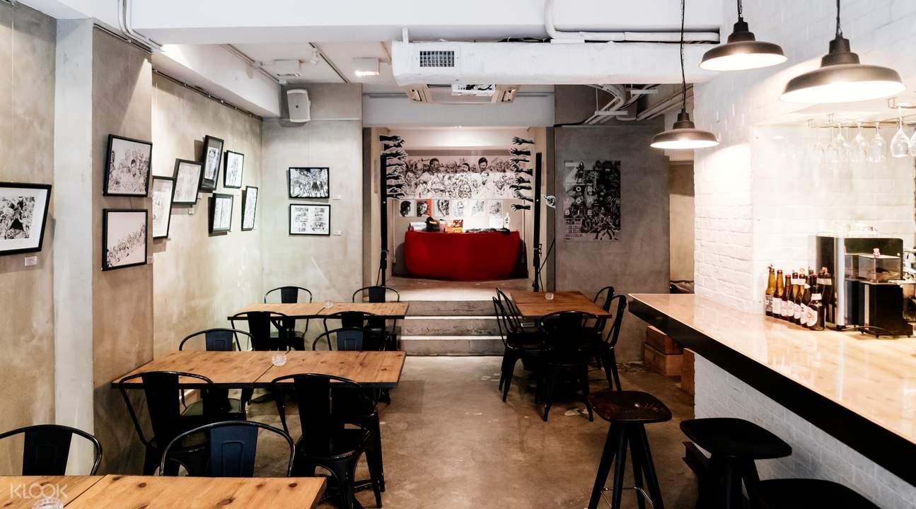 boom art gallery bar sheung wan hong kong