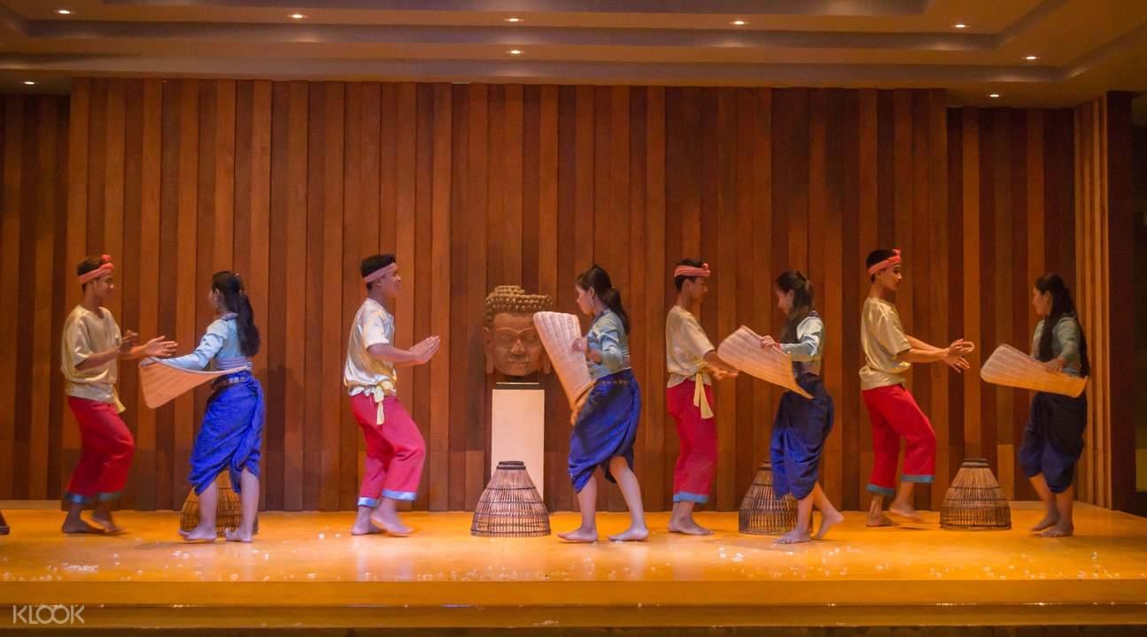 暹粒Por Cuisine晚餐,Apsara舞蹈表演,暹粒仙女舞表演