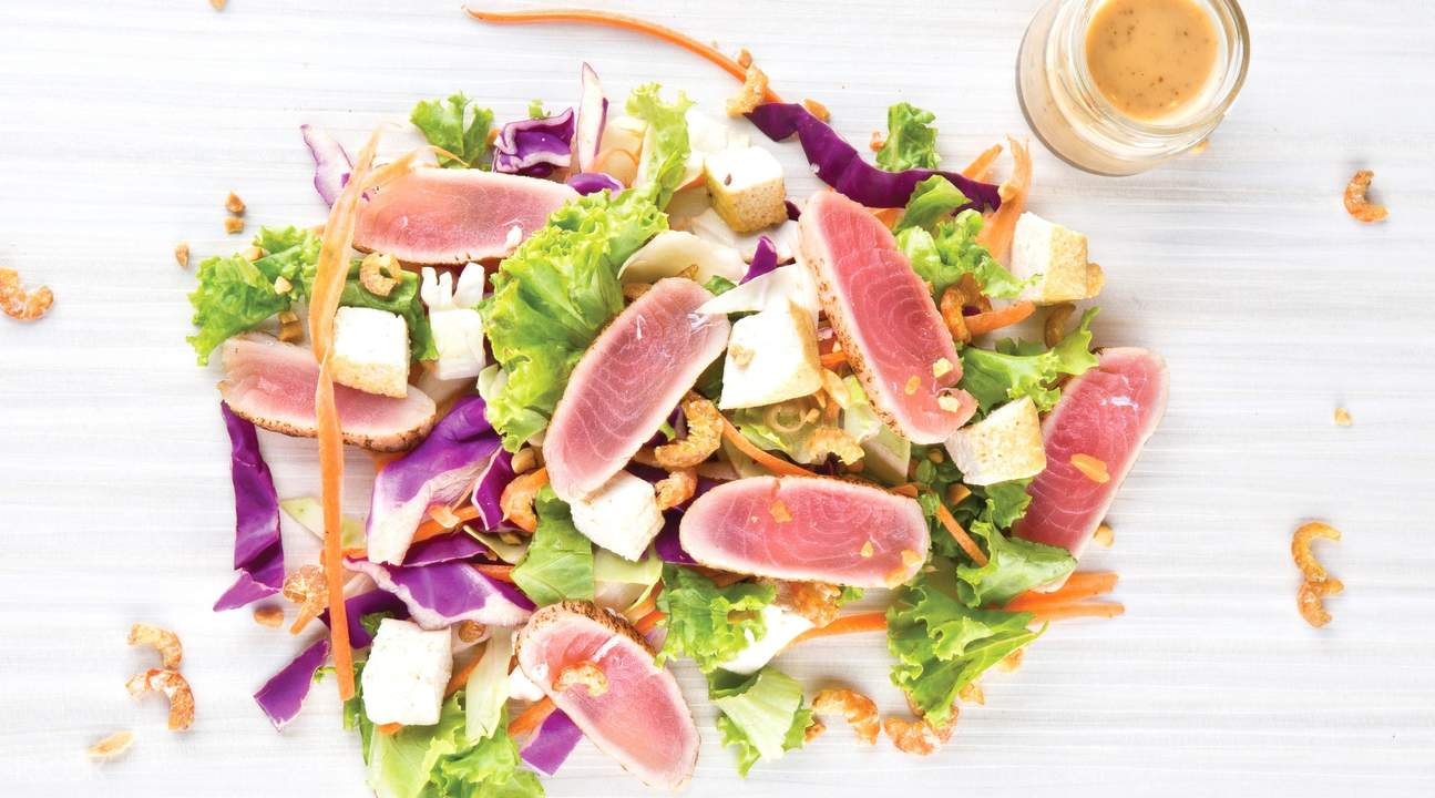 Tofu and Tuna Salad with Peanut and Sesame dressing at Som Tam in Orchard Road