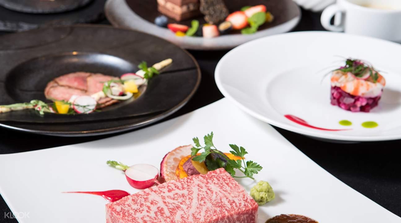 Stone-Grilled Kobe Beef Steak Course Kobe Beef Yazawa West in Kobe Japan