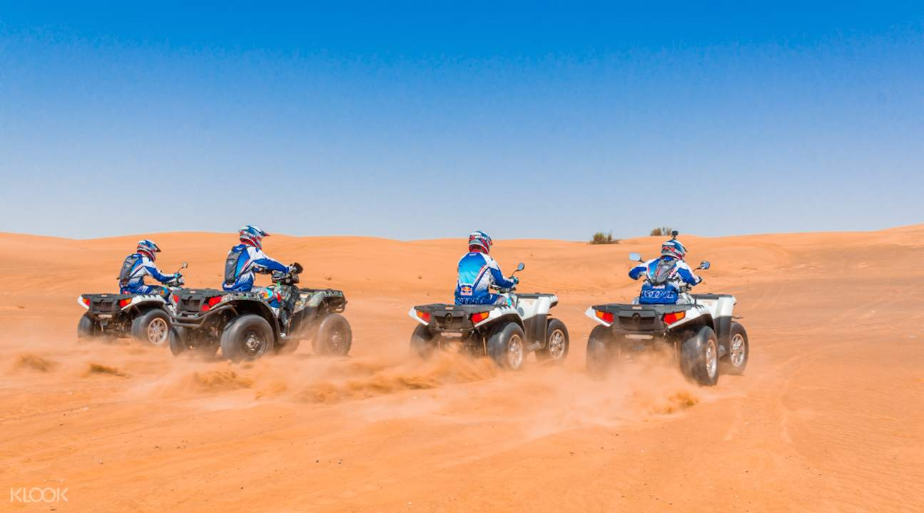 polaris quad bike, quad bike adventure in dubai, quad bike dubai al badayer desert, quad bike in dubai