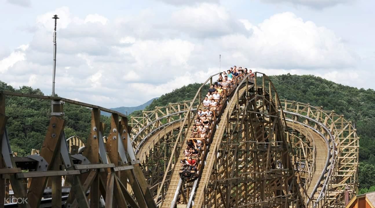 roller coaster at Everland