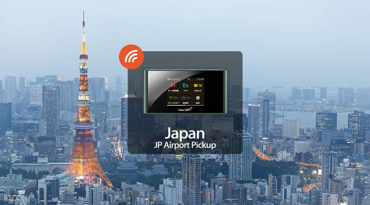 Unlimited 4G WiFi for Japan (JP Airport Pick Up)